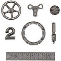 Tim Holtz - Idea-Ology Metal Odds & Ends, 7 kpl