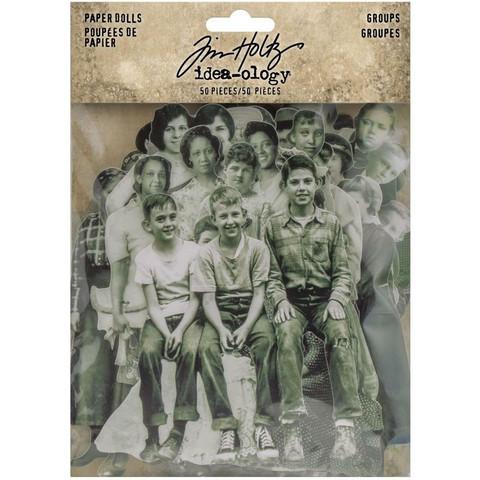Tim Holtz - Idea-Ology Paper Dolls, Groups, 78 kpl