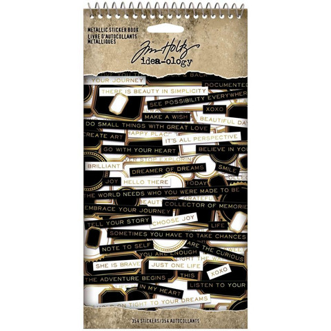 Tim Holtz - Idea-Ology Sticker Book, Metallic