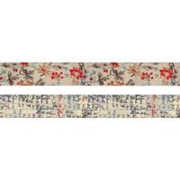 Tim Holtz - Idea-Ology Linen Tape, Floral, 2 rullaa
