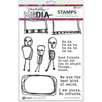 Dina Wakley Media - Cling Stamps, No Refunds, Leimasetti