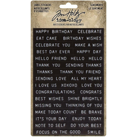 Tim Holtz - Idea-Ology Sentiments Label Stickers