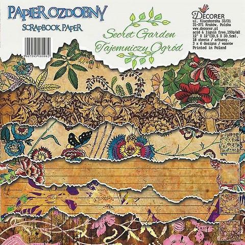 Decorer - Secret Garden, Paper Pack 12