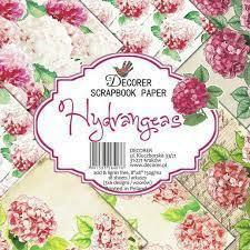 Decorer - Hydrangeas, Paper Pack 8
