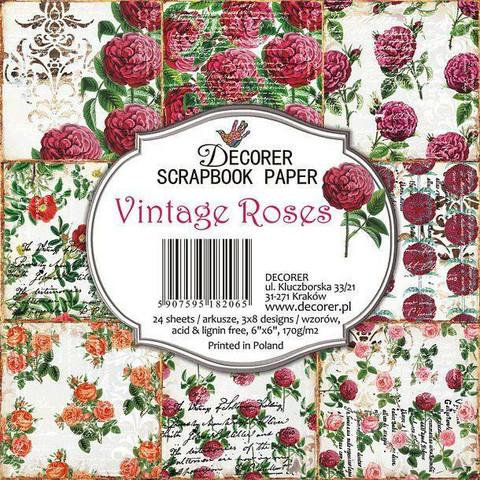 Decorer - Vintage Roses, Paper Pack 6