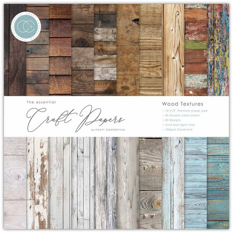 Craft Consortium - Essential Craft Papers, Wood Textures, 12