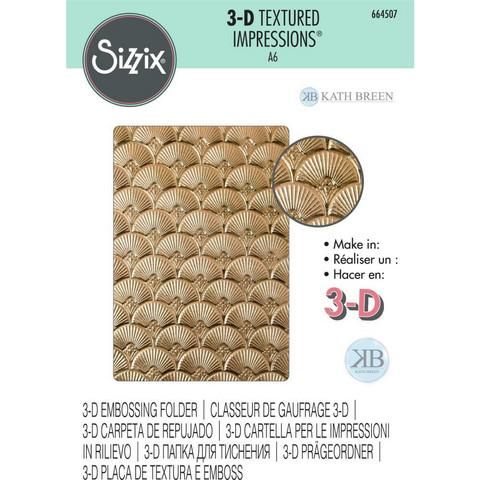 Sizzix - 3D Textured Impressions By Kath Breen, Kohokuviointitasku, Art Deco
