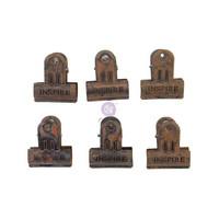 Prima Marketing - Art Daily Planner Metal Binder Clips, 6kpl, Rusty