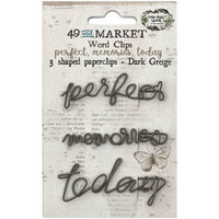 49 And Market - Foundations Word Paperclips,  Perfect, Memories & Today In Dark Greige