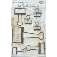 49 And Market - Foundations Essential Binder Clips,  Antique Bronze