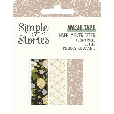 Simple Stories - Happily Ever After, Washi Tape, 3 rullaa