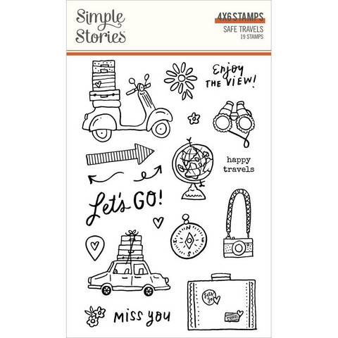 Simple Stories - Safe Travels, Leimasetti