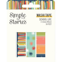 Simple Stories - School Life, Washi Tape, 3 rullaa