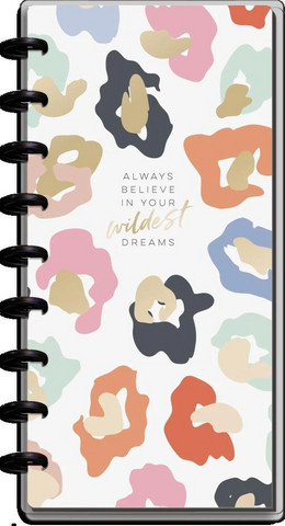 MAMBI - SKINNY CLASSIC Happy Planner, Colorful Leopard, päivätty 12kk