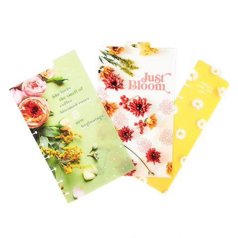 MAMBI - Happy Planner Classic Dashboards, Pressed Florals, 3 kpl