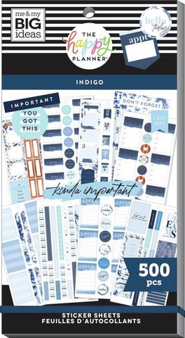MAMBI - Happy Planner, Indigo Tie Dye, Tarrasetti, 30arkkia