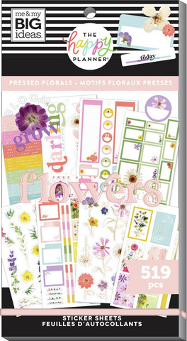 MAMBI - Happy Planner, Pressed Florals, Tarrasetti, 30arkkia
