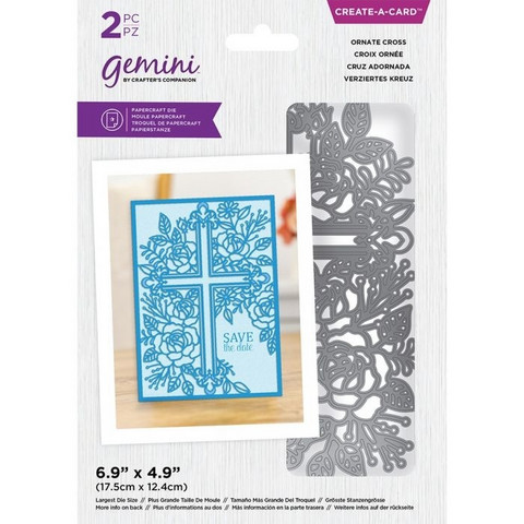 Gemini - Create-a-Card Dies, Stanssi, Ornate Cross