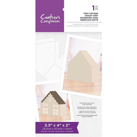 Crafter's Companion - Cosy Cottage Templates, Sapluuna
