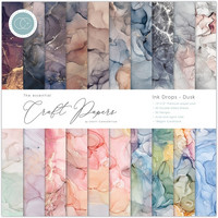 Craft Consortium - Essential Craft Papers, Ink Drops Dusk, 12