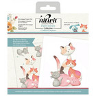 Crafter's Companion - Pawsitivity For the Love of Cats, Die-Cut Decoupage Topper Pad, 6