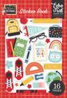 Echo Park - I Love School, Sticker Book, Tarrasetti