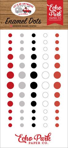 Echo Park - Let's Go Anywhere, Enamel Dots, 60 kpl