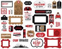 Echo Park - Let's Go Anywhere Frames & Tags, Leikekuvia, 33 kpl