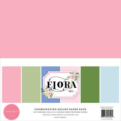 Carta Bella - Flora No. 4, Solids Kit 12
