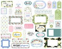 Carta Bella - Flora No. 4 Frames & Tags, Leikekuvia, 33 kpl