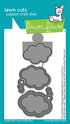 Lawn Fawn - Reveal Wheel Thought Bubble Add-on, Stanssisetti