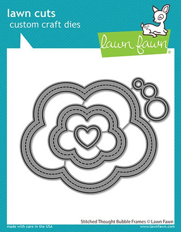 Lawn Fawn - Stitched Thought Bubble Frames, Stanssisetti