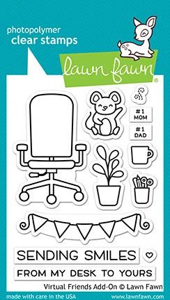 Lawn Fawn - Virtual Friends Add-on, Leimasetti