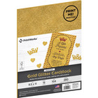 PrintWorks - Printable Glitter Cardstock, Letter, Kulta, 15 arkkia