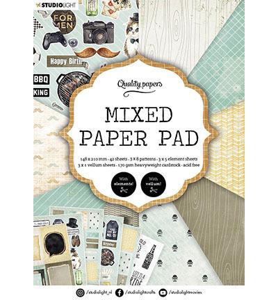 Studio Light - Mixed Paper Pad, nr.160, A5, Paperikko