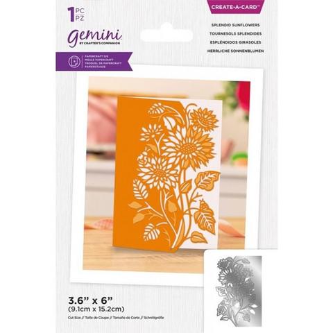 Gemini - Create-a-Card Dies, Stanssi, Splendid Sunflowers