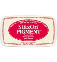 Tsukineko - StazOn Pigment, Leimamuste, Passion Red