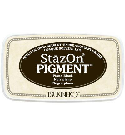 Tsukineko - StazOn Pigment, Leimamuste, Piano Black