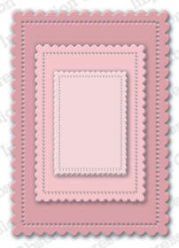 Impression Obsession - Cute Scalloped Rectangles, Stanssisetti