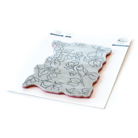 Pinkfresh Studio - Cling Rubber Stamp, Bougainvillea Print, Leima