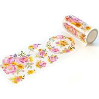 Pinkfresh Studio - Washi Tape, 100mmx10m, Painted Peony Mix