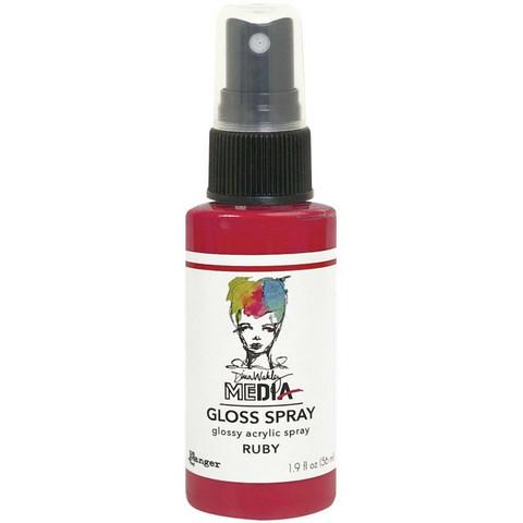 Dina Wakley Media - Gloss Spray, Ruby, 56ml