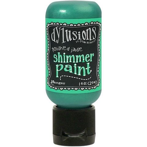 Dylusions - Shimmer Acrylic Paint, Polished Jade, 29ml