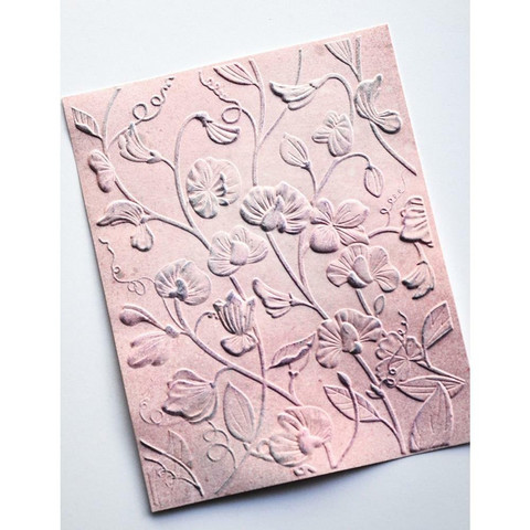 Memory Box - 3D Embossing Folder, Kohokuviointitasku, Blooming Sweet Pea