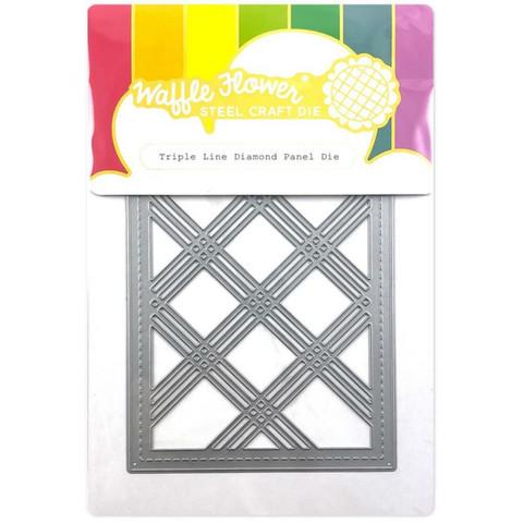 Waffle Flower - Triple Line Diamond Panel, Stanssi