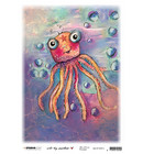 Studio Light - Art By Marlene, So-Fish-Ticated, Rice Paper Nr.13, Whimsy Water Friend