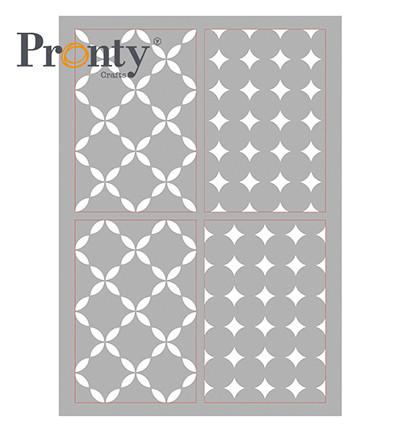Pronty Crafts - Retro Pattern 4 layers, A4, Sapluuna
