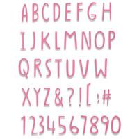 Sizzix -Thinlits Dies By Jenna Rushforth, Stanssisetti, Hand Drawn Alphabet