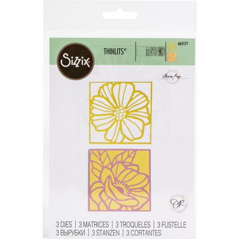 Sizzix -Thinlits Dies By Olivia Rose, Stanssisetti, Floral Card Fronts