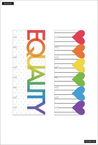 MAMBI - Happy Planner Classic Bookmarks, Pride, 2 kpl